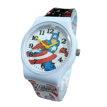 《迪士尼&漫威》熱門動漫卡通錶兒童錶 (多款可選)(Marvel美國隊長-白)-★買一送一★