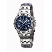 《TELUX鐵力士》競速三眼計時系列腕錶(深藍)
