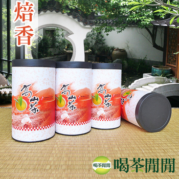 喝茶閒閒 台灣茗品焙香高冷茶-機剪(150公克*4罐)