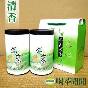 喝茶閒閒 台灣茗品清香高冷茶提盒組(150公克*2罐)