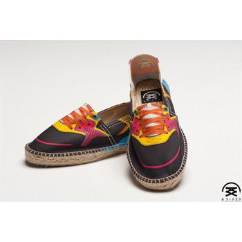 BSIDED BSD Black&Yellow 仿真時尚設計印刷休閒鞋(黑黃)(男款)(42)