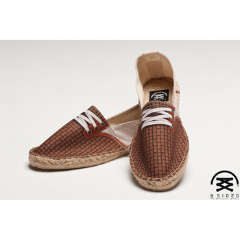 BSIDED GUMP DOT BEIGE 仿真時尚設計印刷休閒鞋(咖格)(男款)(43)