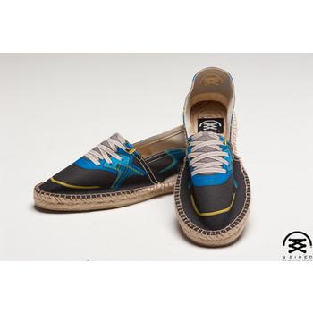 BSIDED BSD Blue 仿真時尚設計印刷休閒鞋(黑藍)(男款)(43)