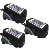 自行車用手機大容量上管收納包(贈3.5mm耳機延長線)(綠色)