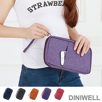 韓版 DINIWELL升級版大容量防水長版證件護照包(紫色)