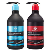 《台塑生醫》Dr's Formula 洗髮&沐浴超值促銷組合(控油抗屑洗髮精580g+晶白潤澤沐浴精580g)