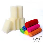 《Love Buy》繽紛彩色神奇清潔超值12件組(抹布x6+菜瓜布x6)
