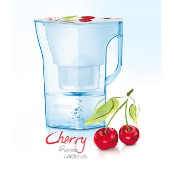 德國BRITA 涼夏清新搶先上市 Navelia若薇亞2.3L濾水壺-櫻桃款+1支濾芯【本組合共2支濾芯】.