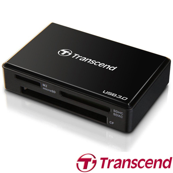 Transcend 創見 RDF8 F8 USB 3.0(多功能讀卡機)(黑色)