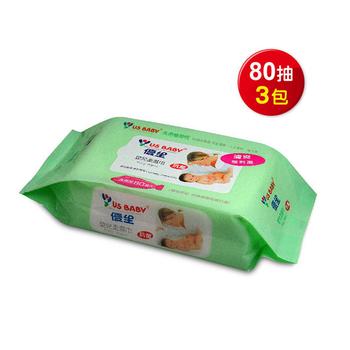 優生 清爽型嬰兒柔濕巾80抽3包