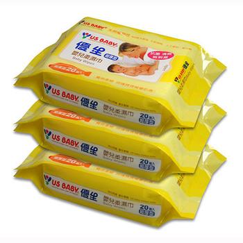 優生 超厚型嬰兒柔濕巾20抽3包