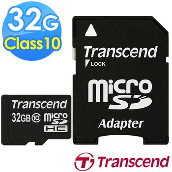 Transcend 創見 32GB microSDHC Class10 30M 記憶卡(附轉卡)