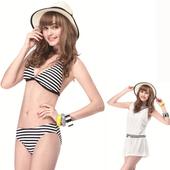 《SAIN SOU》大女比基尼三件式泳裝附泳帽(M)