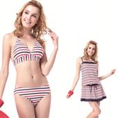 《【SAIN SOU】》大女比基尼三件式泳裝附泳帽(M)