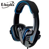 《E-books》S25 電競頭戴耳機麥克風(藍)