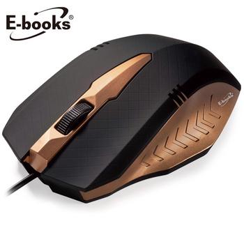 E-books M19高階款1600CPI光學滑鼠(金)