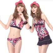 《【SAIN SOU】》大女比基尼四件式泳裝附泳帽(M)