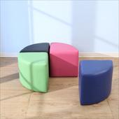 《BuyJM》多彩扇形沙發凳(40x40公分)(紫色)