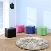 《BuyJM》多彩方塊沙發凳(40x40公分)(深藍)