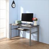 《BuyJM》低甲醛防潑水120公分單鍵盤穩重型電腦桌(胡桃色)