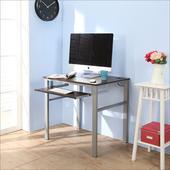 《BuyJM》低甲醛防潑水80公分單鍵盤穩重型電腦桌(胡桃色)