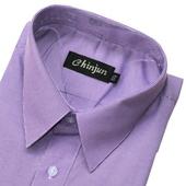 《CHINJUN》短袖防皺襯衫(紫細線條-15吋)