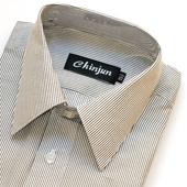 《CHINJUN》短袖防皺襯衫(白底線條15吋)
