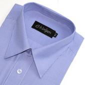 《CHINJUN》短袖防皺襯衫(藍細條紋-15吋)