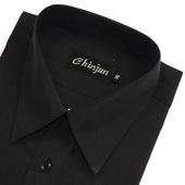 《CHINJUN》短袖防皺襯衫(黑色-15吋)