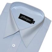 《CHINJUN》短袖防皺襯衫(天空藍-15吋)