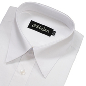 《CHINJUN》短袖防皺襯衫(素色白-15吋)