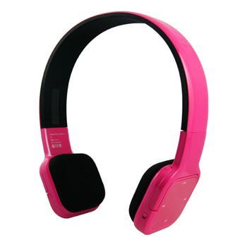 Jabees 無線藍芽頭戴式耳機(可連接手機通話)(炫彩粉紅)