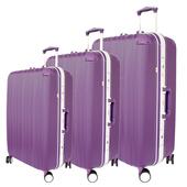 《YC Eason》典雅輕量鋁框三件組ABS行李箱(典雅紫)