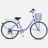 《BIKEONE》LadyONE246 24吋6速淑女車(葡萄紫)