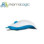 《MorroLogic》繽紛蘋果鯊USB精密光學有線滑鼠_WMB白藍(02WMB白藍)