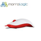《MorroLogic》繽紛蘋果鯊USB精密光學有線滑鼠_WFR白紅(02WFR白紅)