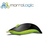 《MorroLogic》繽紛蘋果鯊USB精密光學有線滑鼠_BLG黑綠(01BLG黑綠)