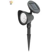 《月陽》可調太陽能充電式自動光控開關3LED庭園燈草坪燈插地燈(5011)