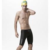 《【SAIN SOU】》競賽/泳隊/專業用及膝泳褲加贈矽膠泳帽(M)