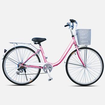 《BIKEONE》LadyONE240 24吋單速 淑女車(粉紅)