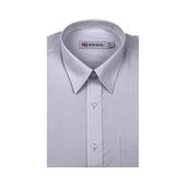 《New Basic紐貝克商務襯衫》NB 雅紳混紡素色短袖襯衫(淺灰色-16吋)