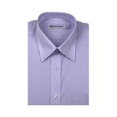 《New Basic紐貝克商務襯衫》NB 雅紳混紡素色短袖襯衫(淺藍色-16吋)