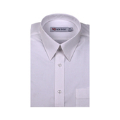 《New Basic紐貝克商務襯衫》NB 雅紳混紡素色短袖襯衫(白色-16吋)