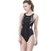 《【SAIN SOU】》競賽/泳隊/專業用大女連身三角泳裝加贈矽膠泳帽(M)