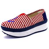 《Alice韓系館》【預購】不敗經典條紋海軍風健走鞋(紅39)