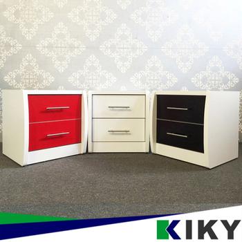 KIKY 愛莉時尚床邊櫃/床頭櫃(白色)