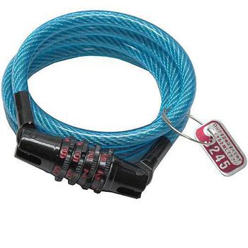 月陽 台灣製造自行車6mm專業鋼纜密碼鎖(T-922)