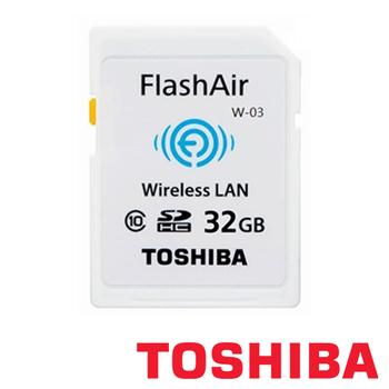 TOSHIBA 32G SD SDHC FlashAir WIFI Wi-Fi C10 無線傳輸 記憶卡(32G)