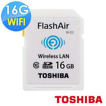 TOSHIBA wifi FlashAir Class10 SDHC 16GB(平輸)