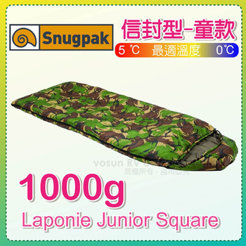 英國 Snugpak 拉柏尼加強版 0℃信封全開式化纖兒童睡袋 / S-LPJSR(迷彩)